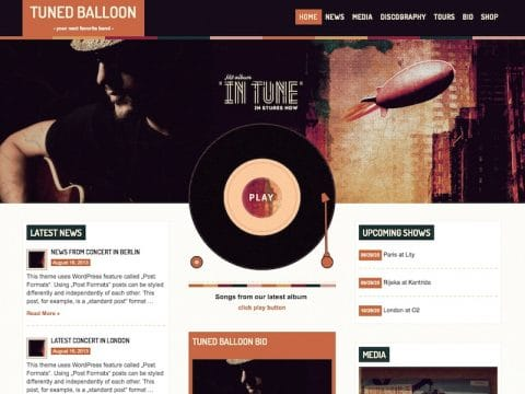 Tuned Balloon WP Theme