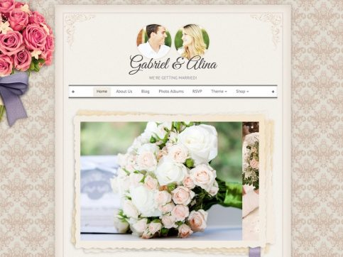Vintage Wedding WordPress Theme