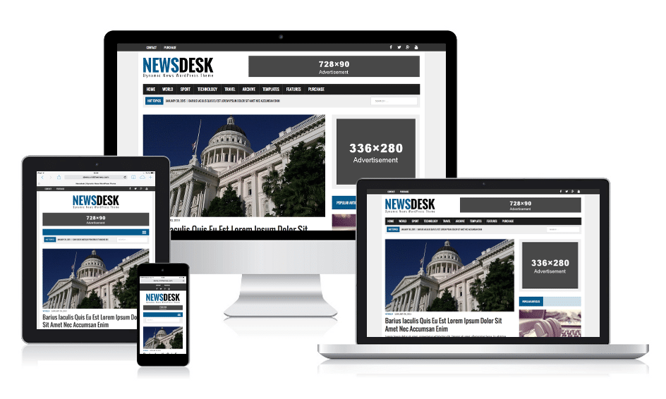 MH Newsdesk - Dynamic News WordPress Theme