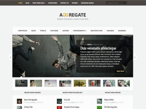 Aggregate Magazine WordPress Theme