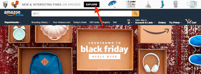 Amazon Top Bar Banner
