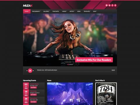 Muzak Music WP Theme
