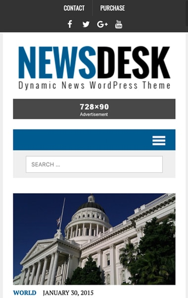 Mobile Preview MH Newsdesk lite