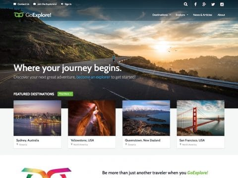 GoExplore WordPress Theme