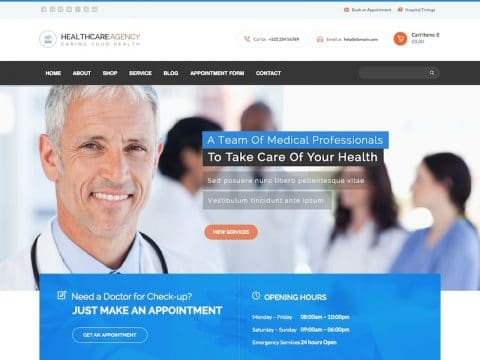 Healthcare Agency WordPress Theme