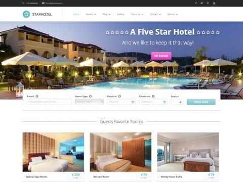 Starhotel WordPress Theme