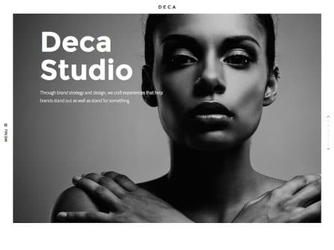 Deca Portfolio WordPress Theme
