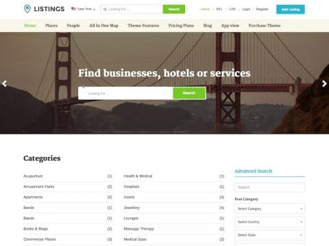 Listings WordPress Theme