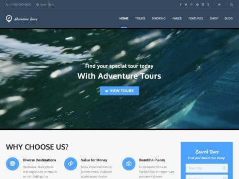 AdventureTours WordPress Theme