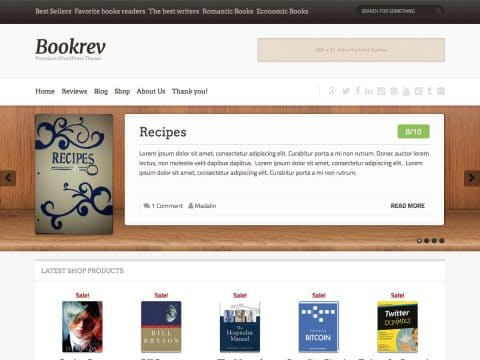 Bookrev WordPress Theme