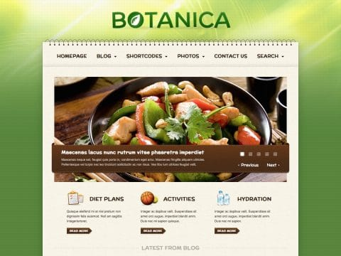 Botanica WordPress Theme