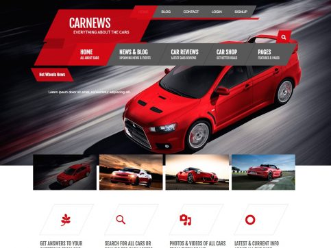 Car News Review WordPress Theme