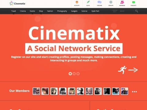 Cinematix WordPress Theme