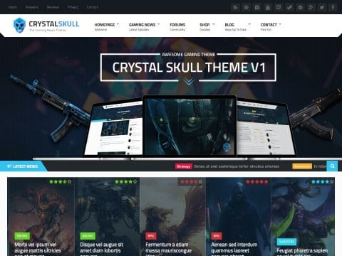 CrystalSkull WordPress Theme