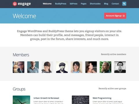 Engange WordPress Theme