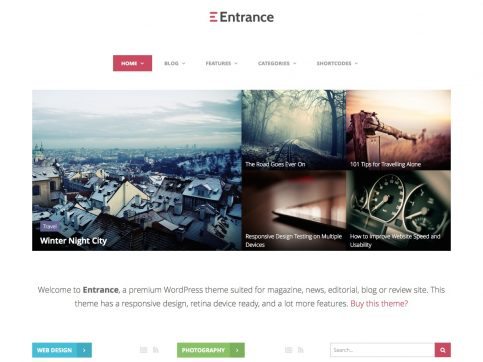Entrance Review WordPress Theme