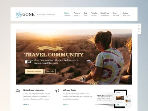 Gone WordPress Theme