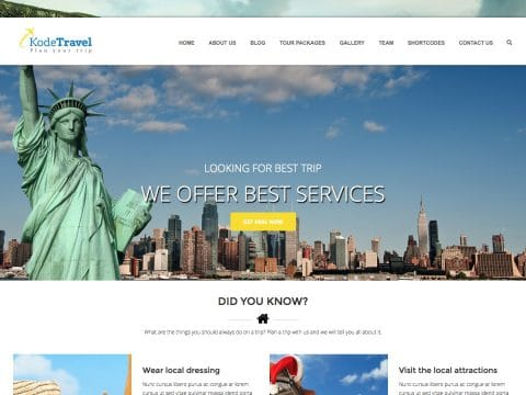 KodeTravel WordPress Theme