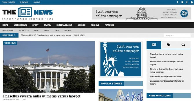 10 Best Newspaper Wordpress Themes To Create News Sites