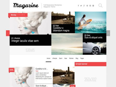Magazine Review WordPress Theme