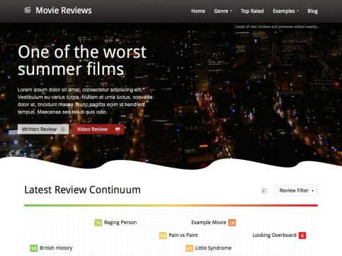 Movie Reviews WordPress Theme