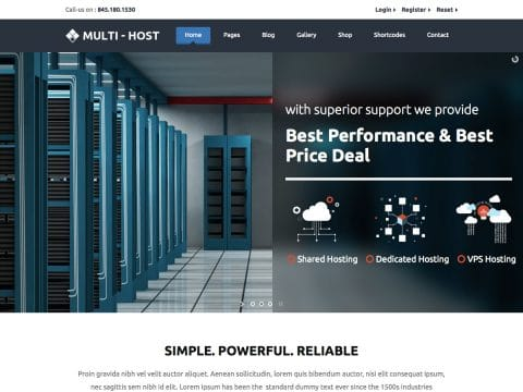 MultiHost WordPress Theme
