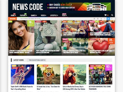 NewsCode Review WordPress Theme