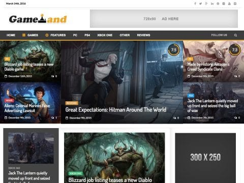 NewsGamer WordPress Theme