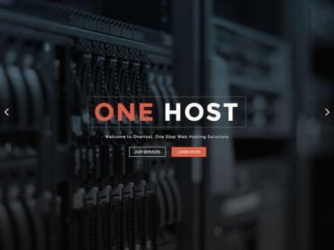 OneHost WordPress Theme