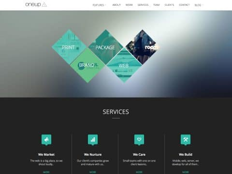 Oneup WordPress Theme