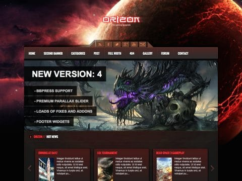 Orizon WordPress Theme
