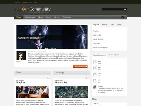 Our Community WordPress Theme