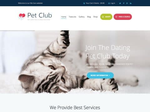 Pet Club WordPress Theme