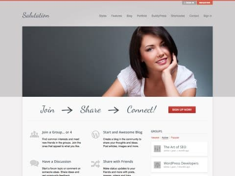 Salutation WordPress Theme