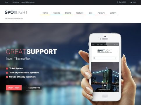 SpotLight Review WordPress Theme