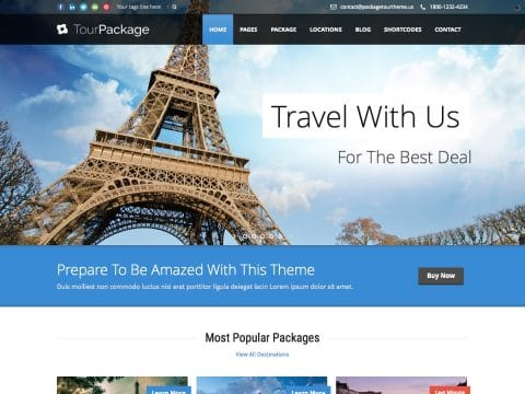 TourPackage WordPress Theme