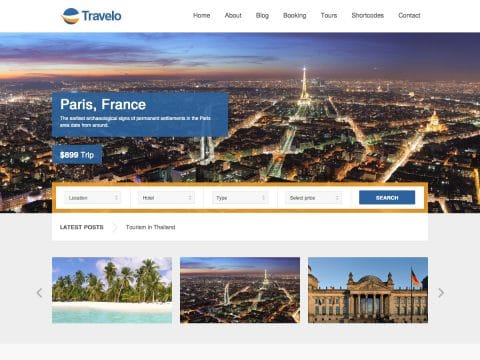 Travelo WordPress Template