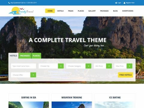 TrendyTravel WordPress Theme