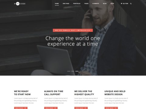 H-Code WordPress Theme