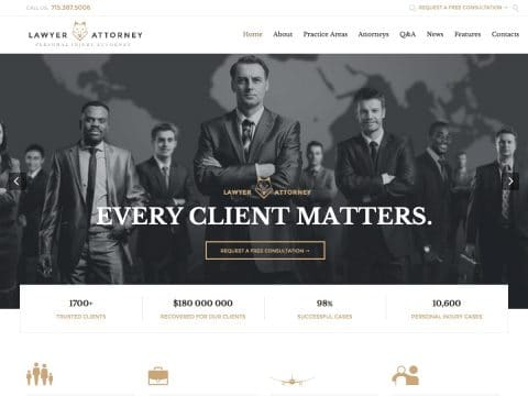 Lawyer Attorney WP Theme