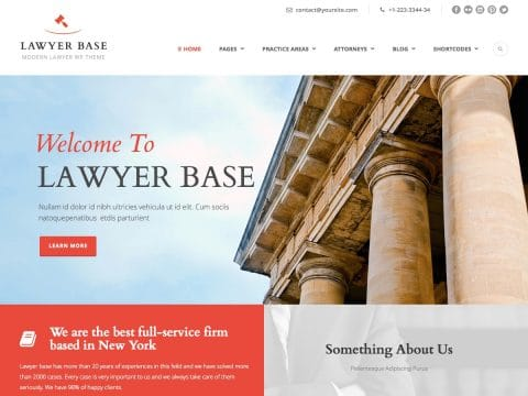 Lawyer Base WP Theme