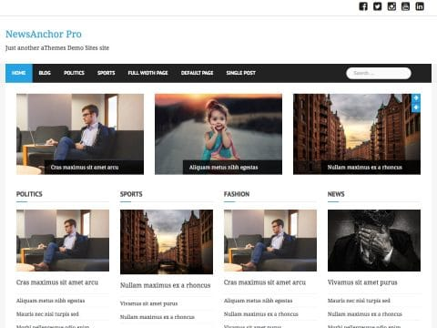 NewsAnchor Pro WordPress Theme
