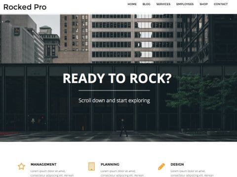 Rocked Pro WordPress Theme