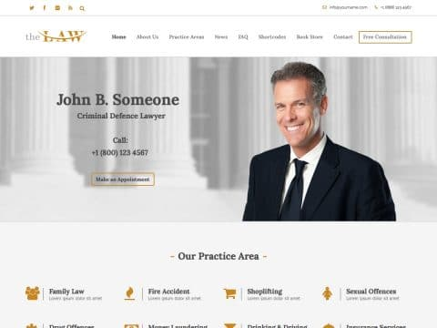 The Law WP Theme