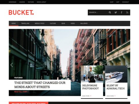 BUCKET Review WordPress Theme