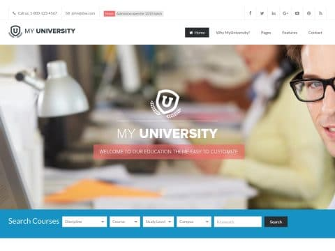 My University WordPress Theme