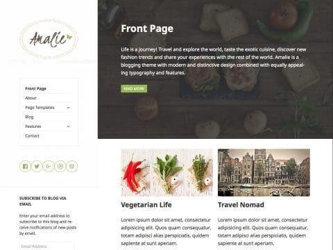 Amalie WordPress Theme