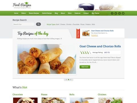 FoodRecipes WordPress Theme