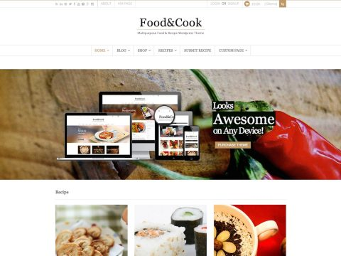Food Cook WordPress Theme