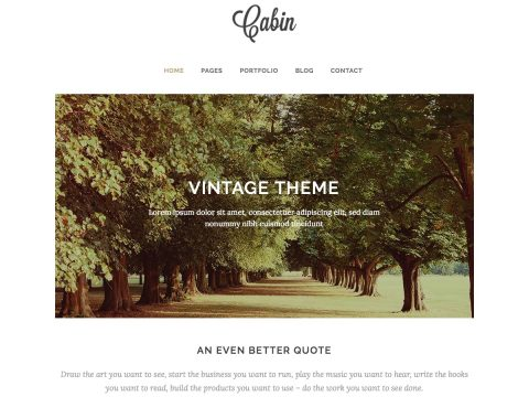 Cabin Vintage WordPress Theme